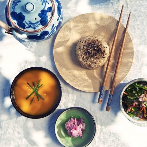 We love oriental food